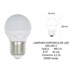 Bombilla LED Prodeco 1614, ESFERICA, 4.5W, E14, 6