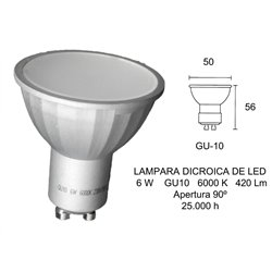 Bombilla LED Fbright 2601671, 6W, GU10, 6000K