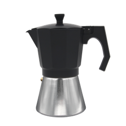 Cafetera Aluminio Bastilipo Negro 6 tazas, apta para la inducción