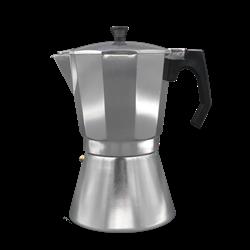 Cafetera Aluminio Bastilipo MOKKA9AL, 9 tazas, apta para la inducción