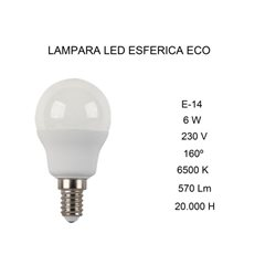 Bombilla LED Fbright ECO 2602939, 6W, E14, 6500K
