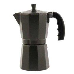 Cafetera inox Orbegozo KFN610, 6 tazas, aluminio a