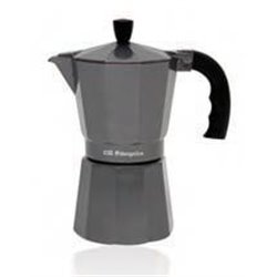 Cafetera de aluminio SILVER Orbegozo KFS320, 3 ta