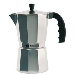 Cafetera inox Orbegozo KF900, 9 tazas, aluminio