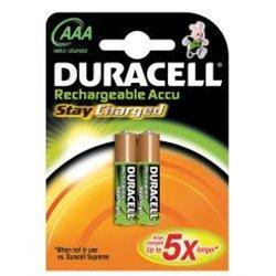 Pila Duracell Recargable AAA LR03 B2