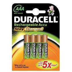Pila Duracell Recargable AAA LR03 B4